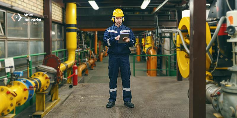 planta industrial con IIoT